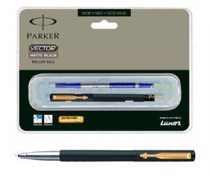 Parker Vector Matte Black Roller Ball Pen (GT)
