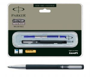 Parker Vector Matte Black Roller Ball Pen (CT)