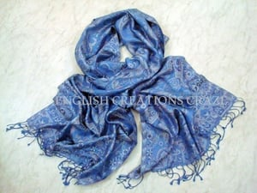 Bulk Silk Poly Jacquard Scarves