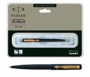 Parker Vector Matte Black Ball Pen (GT)