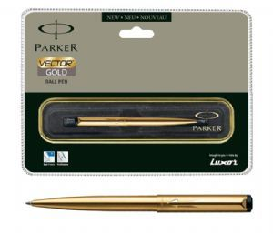 Parker Vector Matte Black Ball Pen (CT)-Free Engraving