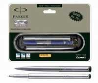 Parker Vector Stainless Steel Set -(CT) (Roller Ball+Ball Pen)