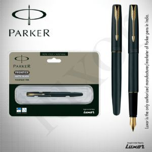Parker Frontier Matte Black (Gold Nib) GT Fountain Pen