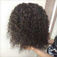 Transparent Deep Curly Front Lace Wig Adjustable Stripes
