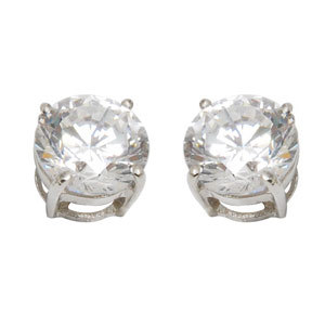 cubic zirconia silver studds looks like diamond tops