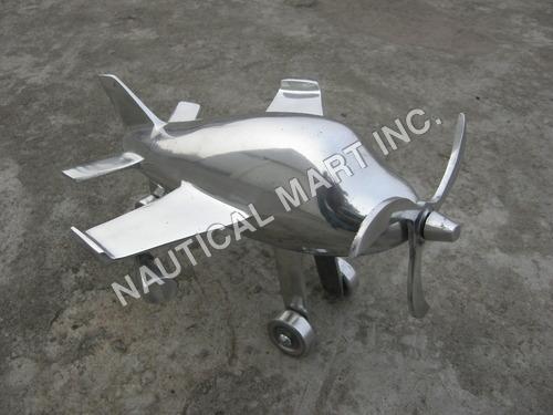 Vintage Aluminum Aeroplane
