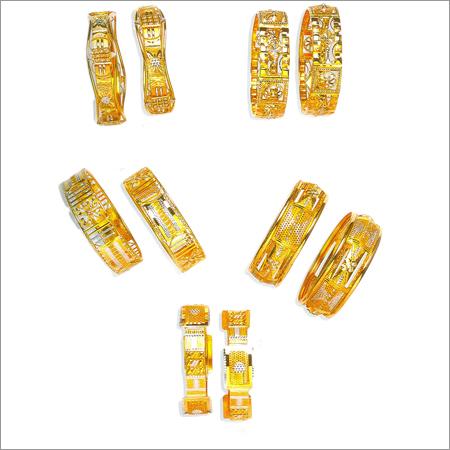 Studded Gold Bangles