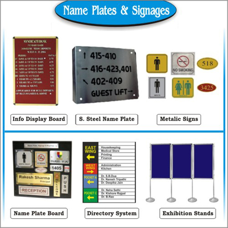 Name Plates & Signages