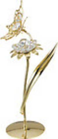 BUTTERFLY-SUNFLOWER-SHOW-PIECE-24K-GOLD-PLATED-GIFT-SWAROVSKI-CRYSTALS