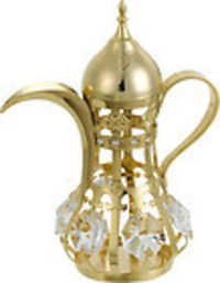 ARABIAN-TEA-POT-SHOW-PIECE-24K-GOLD-PLATED-GIFT-SWAROVSKI-CRYSTALS
