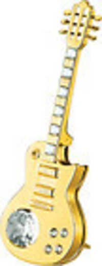 ELECTRIC-GUITAR-SHOW-PIECE-24K-GOLD-PLATED-GIFT-SWAROVSKI-CRYSTALS