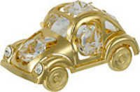 BEETLE-CAR-SHOW-PIECE-24K-GOLD-PLATED-GIFT-SWAROVSKI-CRYSTALS