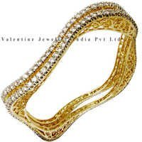 Designer Diamond Yellow Gold Bangle