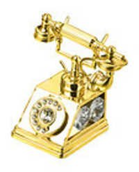 ANTIQUE-ROMAN-TELEPHONE-SHOW-PIECE-24K-GOLD-PLATED-GIFT-SWAROVSKI-CRYSTALS