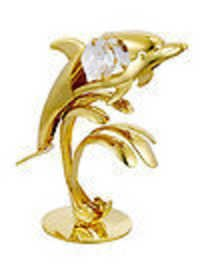 DOLPHIN-SHOW-PIECE-24K-GOLD-PLATED-GIFT-SWAROVSKI-CRYSTALS