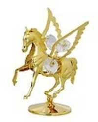 FLY-HORSE-SHOW-PIECE-24K-GOLD-PLATED-GIFT-SWAROVSKI-CRYSTALS