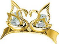 SWAN-DOUBLE-SHOW-PIECE-24K-GOLD-PLATED-GIFT-SWAROVSKI-CRYSTALS-