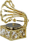 GRAMOPHONE-SHOW-PIECE-24K-GOLD-PLATED-GIFT-SWAROVSKI-CRYSTALS-