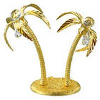 PALM-TREE-DOUBLE-SHOW-PIECE-24K-GOLD-PLATED-GIFT-SWAROVSKI-CRYSTALS
