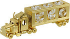 TRUCK-SHOW-PIECE-24K-GOLD-PLATED-GIFT-SWAROVSKI-CRYSTALS-