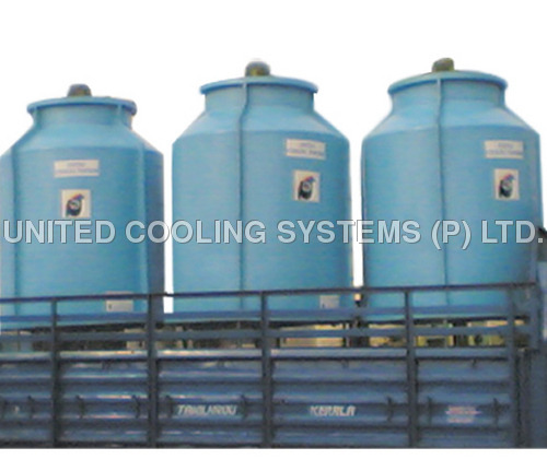 Bottle Shaped FRP Cooling Towers