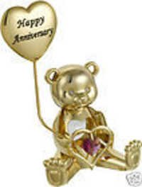 GREETING-BEAR-HAPPY-ANNIVERSARY-24K-GOLD-PLATED-GIFT-SWAROVSKI-CRYSTALS-