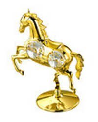 HORSE-SHOWPIECE-24K-GOLD-PLATED-GIFT-SWAROVSKI-CRYSTALS-