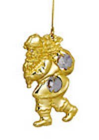 SANTA-CLAUSE-HANGING-24K-GOLD-PLATED-CHRISTMAS-GIFT-SWAROVSKI-CRYSTALS-