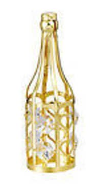 WINE-BOTTLE-SHOWPIECE-24K-GOLD-PLATED-GIFT-SWAROVSKI-CRYSTALS-