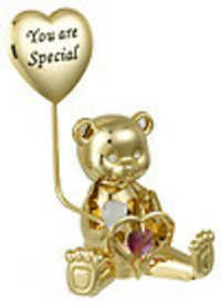 GREETING-BEAR-YOU-SPECIAL-24K-GOLD-PLATED-GIFT-SWAROVSKI-CRYSTALS-