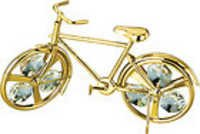CYCLE-SHOW-PIECE-24K-GOLD-PLATED-GIFT-SWARVOSKI-CRYSTALS-