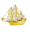 SAILING-SHIP-SHOW-PIECE-24K-GOLD-PLATED-GIFT-SWARVOSKI-CRYSTALS-