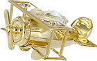 AEROPLANE-SMALL-SHOW-PIECE-24K-GOLD-PLATED-GIFT-SWOROVSKI-CRYSTALS