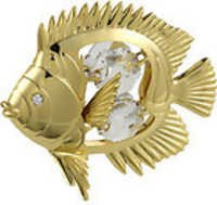 TROPICAL-FISH-24K-GOLD-PLATED-GIFT-SWROVSKI-CRYSTL-