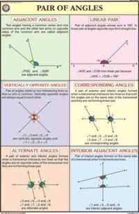 Pair of Angles For Mathematics Chart