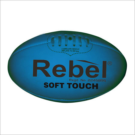 Blue Rugby Ball