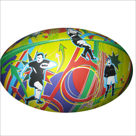 Multicolor Rugby Ball