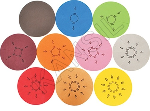 Magnet Fraction Disc With Magnetic Board For Mathematics