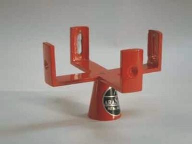 Cross Vertical Staff Brass For Mathematics