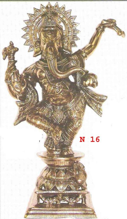 BLACK METAL DANCING GANESH JI