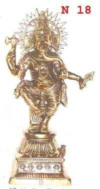 BLACK MEATAL DANCING GANESH JI