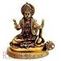 Brass Statue - 'Hanuman Singing Bhajans of His Lord'