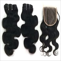 Deep  Wave Hair with closure