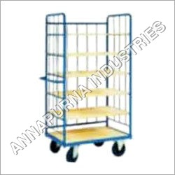 Multi Shelves Tray Trolley