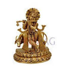 Lord Gopal Krishna - Brass Sculpture