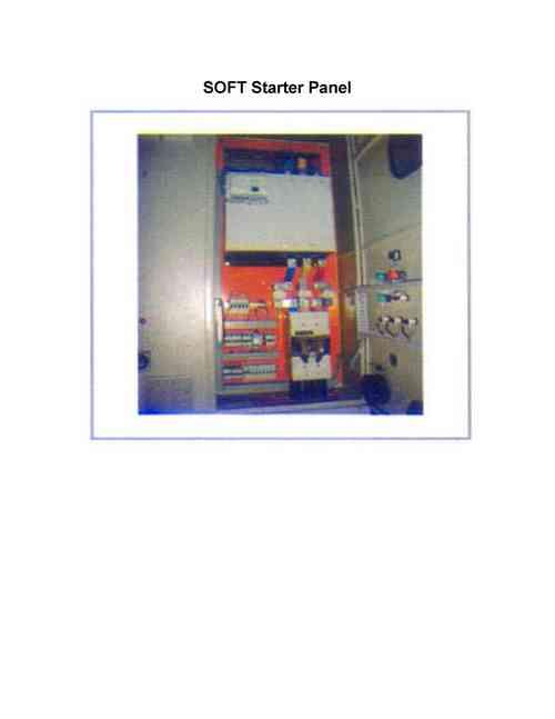 Soft Starter Panel