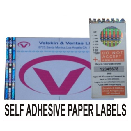 Self Adhesive Paper Label with Hologram