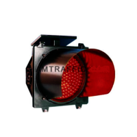 Solar Red Traffic Blinker