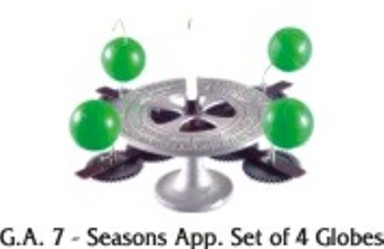 Seasons App. Set of 4 Globes Model