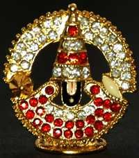 Religious Gift Jewel Studded Balaji Idol Figurine